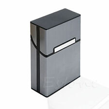 New Aluminum Metal Box Holder Pocket Case for Cigarette Tobacco Storage Black MT