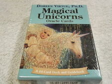 New Sealed MAGICAL UNICORNS ORACLE CARDS Doreen Virtue 44 ORACLE CARD DECK