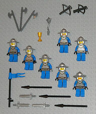 LEGO Minifigures Lot 7 Royal Castle Knights Swords Lego 70404 Minifigs People