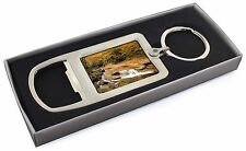Autumn Waterfall Chrome Metal Bottle Opener Keyring in Box Gift Idea, W-4MBO
