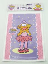 3 Packs Of 8 Zoe Ballerina Party Bags Sesame Street (MI140) X 3