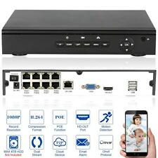 8CH 1080P H.264 P2P POE NVR ONVIF Video Recorder for CCTV IP Camera EU Plug O8Y7