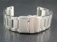 SUPER ENGINEERED STEEL STRAP BRACELET FOR OMEGA SEAMASTER SPEEDMASTER WATCH 20mm