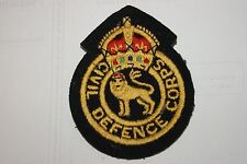 JOB LOT X 10 BRITISH ARMY CIVIL DEFENCE BADGE PATCH SEW ON POST WW2 BADGES NEW