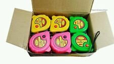 24 pack 5m x 19mm Pocket Measuring Tape Builders Budget carry strap RRP 49.99