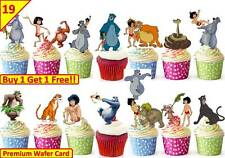 38 JUNGLE BOOK Cup Cake Edible Wafer Rice Toppers Birthday Stand up
