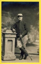 cpa Carte Photo Post Card MILITAIRE SOLDAT du 20e Régiment Épée