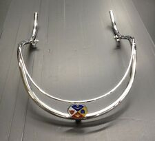 Front mud guard bumper bar chrome crest badge for Lambretta series 2 by Cuppini