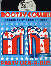 "BOOTSY COLLINS Party Lick-A-Ble's 12"" SINGLE Fatboy Slim WEA UK 3984 26457-0 @Ex"