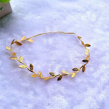 Charming Baby Girl Kids BOHO Fairy Gold Leaf headband Hair Band Photography Prop