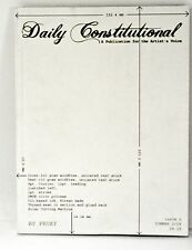 Book - DAILY CONSTITUTIONAL Issue 6 by PROXY - Nick Thurston - Artists Voice