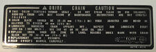 HONDA CBR600F JELLY MOULD CHAIN CAUTION WARNING LABEL DECAL