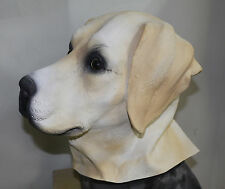 Golden Labrador Mask Dog Fancy Dress Retriever Canine Animal Latex Full Head