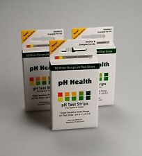 2 X 100 STRISCIA alcalina pH doppia strisce per test kit Urina & Saliva PH per i livelli di corpo