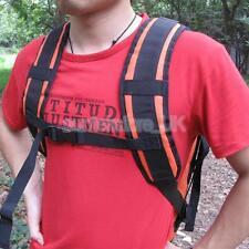 Waterproof PVC Padded Backpack Rucksack Shoulder Strap & Chest Webbing Belt