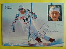 Markus Wasmeier, Autogrammkarte (80ger Jahre)
