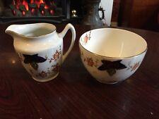 Lovely Edwardian China Milk Jug & Sugar Basin