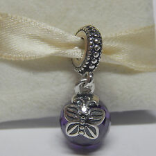 Pandora 791258ACZ Purple Morning Butterfly Dangle Charm Box Included