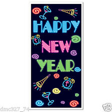 1 HAPPY NEW YEAR New Year's Eve Party Decoration Wall DOOR COVER 30 in x 5 ft
