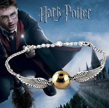 Bracelet Harry potter  balle magique le Vif d'or Quidditch  ailes argent