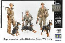Master Box Dogs in Service in the US Marine Corps, WWII 1/35 35155  ST