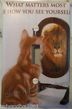 'New!' LARGER SIZE-What Matters Most Is How You See Yourself- Light Switch Cover