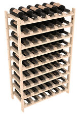 54 Bottle Stacking Wood Wine Rack Shelf in Ponderosa Pine. Easy DIY Wine Storage