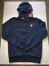PUMA FIGC ITALIA AZZURRI Z-THRU (747478 03) BUTTON DOWN ZIP HOODIE JACKET Sz M