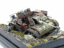 Built German Panzer StuG III wrecked destroyed dio 1/35 scale