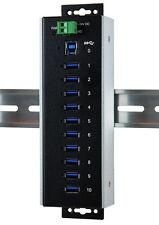 EXSYS EX -1110 hmvs-WT-USB 3.1 (gen1) metallo HUB 10 porte (-40 ° c a +85 ° C)