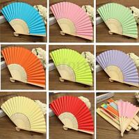 Colorful Chinese Folding Bamboo Fan Retro Hand Paper Fans Wedding Gift Favors