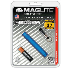 Maglite Solitaire Blue LED 37 Lumens Flashlight w/ Lanyard & Battery - SJ3A116