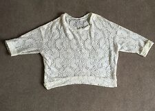 Women's New Look Cream Lace Top 3/4 Sleeves UK Size 12