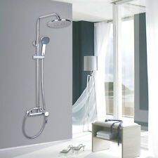 """Chrome 8"""" Rain Shower Faucet Set Wall Mount Tub Mixer Tap With Hand Spray"""