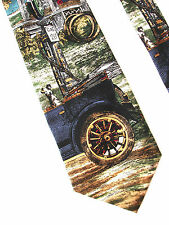 Fill 'Er Up Gas Station Vintage Car Americana Series 1925 Silk Neck Tie Max Raab