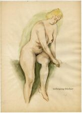 Female nude, watercolor pencil sketch from approx. 1940