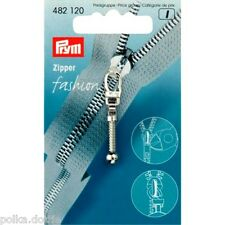 Prym Zipper Pull Silver Club Style Replacement Zip Puller Silver Ball & Chain