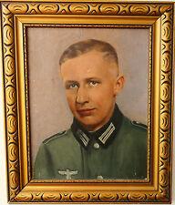 ANTIKE ÖLGEMÄLDE 2.WK DER DEUTSCHER WEHRMACHT SOLDAT 1940-45 A.E. SIGNIERT