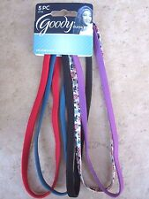 GOODY Ouchless  Headbands Set of 5 NIP Multi-Colored NEW 07703
