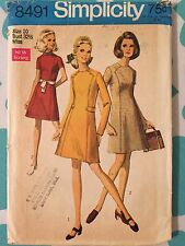 Vintage 1960's Simplicity #8491 Sewing Pattern Size 10, Bust 32.5""