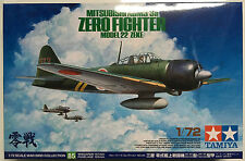 Tamiya 60785 1/72 Mitsubishi A6M3/3a Zero Fighter Model 22 (Zeke) Model Kit NIB