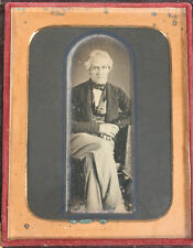 DAGUERREOTYPE RELAXED MAN, CHURCH WINDOW CROP. BY MCCLEES, GERMON, PHIL. PA.