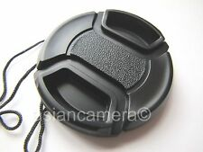 Front Lens Cap For Nikon Coolpix P7800 P-7800 + Cap Keeper Snap-on Glass Cover