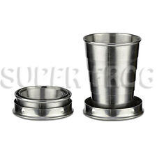 Stainless Steel Telescopic Retractable Travel Folding Collapsible Cup Portable