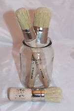 Round Chalk Paint & Wax Brush Starter Pack Kit Pure Bristle British Shabby Lears