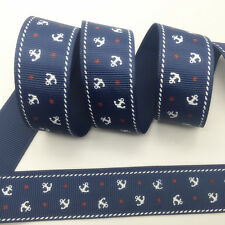 NEW~ 5 Yards 1Inch 25mm Wide Printed Grosgrain Ribbon Hair Bow DIY Sewing #A081