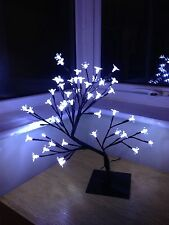 Interior/exterior 45cm christmas/bonsai/cherry blossomtree/48 Blanco lights/mains