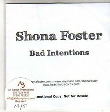 (CH197) Shona Foster, Bad Intentions - 2011 DJ CD