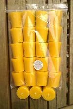 20 100% Pure English Beeswax Votive Candles Unscented 3.5 x 5cm Special Price