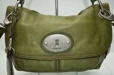 Fossil Maddox Distressed Top Handle Flap Convertible Crossbody Satchel Bag